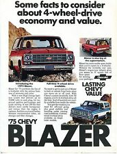 1975 Chevrolet Chevy Blazer 4x4 Economy and Value Print Ad