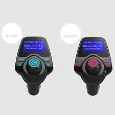 Bluetooth Car Kit MP3 FM Transmitter T11 LCD Charger Handsfree UK