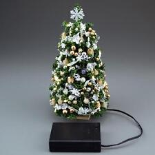 Doll House Shoppe Lighted Gold Silver Ultimate Christmas Tree dhs49249 Miniature