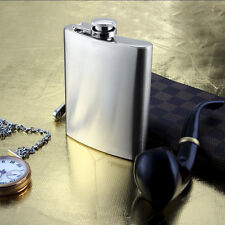 8oz Personalised Engraved Stainless Steel 6oz Hip Flask,Funnel and Moulded Box