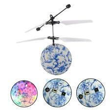 Electric RC Fly Ball Infrared Induction Aircraft Flash LED Light Mini Kids Toy