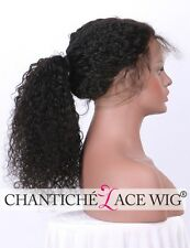 Short Curly Full Lace Wigs Indian Remy Human Hair 360 Frontal Wig Black Women 10