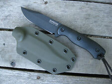 Valhalla Custom Kydex Sheath Ka-Bar Becker BK17 Clip Point OD GREEN SHEATH ONLY