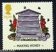 "Bees (The Honeybee) ""Making Honey"" illustrated on 2015 stamp - Unmounted mint"