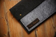 "New MacBook Pro 13"" Retina Felt Sleeve Case Cover Bag - with your LEATHER NAME"