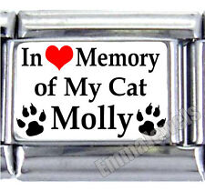 In Loving Memory Of My Cat Pet Custom Name 9mm Italian Photo Charm New