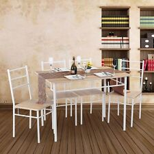 5PCS Dinning Set 1PCS Dining Table and 4 Chairs Kitchen Dinning Room Set