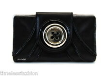 MIMCO METAL BUTTON LEATHER WALLET IN BLACK BNWT RRP$169