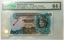 =AN= MALAYSIA BANKNOTE 5TH RM50 AZIZ TAHA 6 MILLION SERIAL NUMBER