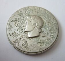 1968 GRENOBLE WINTER OLYMPICS SILVER PARTICIPATION MEDAL