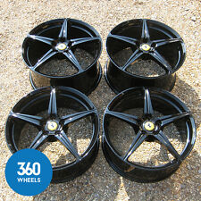 "GENUINE FERRARI 458 20"" ITALIA SPIDER CHALLENGE FORGED SPORT ALLOY WHEELS BLACK"