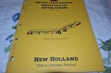 New Holland 125 126 Hopper Feeder Dealer's Parts Book Manual DCPA5