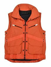 Ralph Lauren Black Label Orange Cargo Utility Vest S New $895