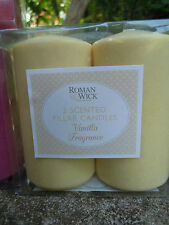 Scented Pillar Church Candle  fragrance candles vanilla pack of 2