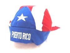 PUERTO RICO FLAG BANDANA HAT CAP EMBROIDERED ONE SIZE FITS ALL SOUVENIRS GIFT