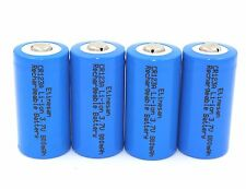 4 x Etinesan 16340 RCR123A Li-Ion 3.7V Protected Rechargeable Batteries CR123A
