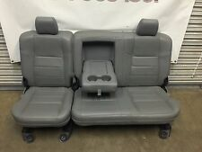 1999-2010 FORD F250 F350 F450 SUPER DUTY REAR SEATS GRAY LEATHER CLEAN