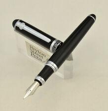 Duke D2 Fountain Pen - Black w Chrome Trim, Med-Fine (New in Box) SHIPS FROM USA