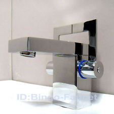 Modern Chrome Double Handles Bathroom Sink Faucet Mixer Water Tap 0121