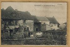Cpa Nogent Saône et Loire - le centre du bourg ferme épicerie Dedidienne rp0188