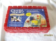 "LOT OF 3 POUNDS CANDLE MAGIC ONE STEP CANDLE WAX SCORED 1"" CUBES TRUE RED"