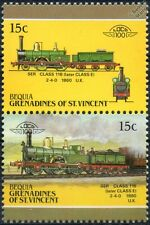 1860 SER Class 118 2-4-0 (South Eastern Railway) Train Stamps / LOCO 100