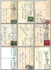 9 POSTCARD - BACKGROUND VINTAGE 155 LB PAPER CRAFT CARD SCRAPBOOK TAG