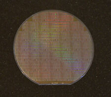 6 inch silicon wafer - Unique early EEPROM technology research wafer