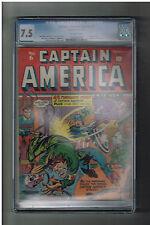 CAPTAIN AMERICA COMICS #6 CGC Grade 7.5 Gold Age (1941) Bondage/noose cover!