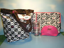 "BARBIE TOTE BAG / 20 OZ TUMBLER / 15"" LAPTOP CASE / MAKEUP CASE & LUGGAGE TAG"