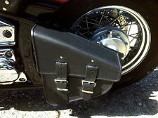 Swingarm Solo Single Sided Pannier Saddle Bag Leather Harley Davidson Softail