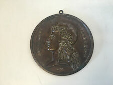 Vtg Antique Bronze Plaque Depicting French Marianne Republique Francaise 1870