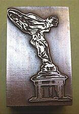 "ROLLS ROYCE ""SPIRIT OF ECSTASY"" CAR MASCOT PRINTING BLOCK."