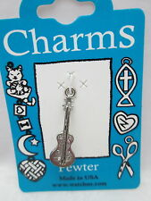 Watch Us Traditional Pewter Music Charm - Guitar