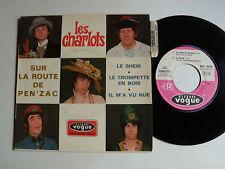 """LES CHARLOTS: Sur la route de Pen'zac, Le sheik 7"""" EP 1968 French VOGUE EPL 8626"""