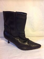 Essence Black Ankle Boots Size 8