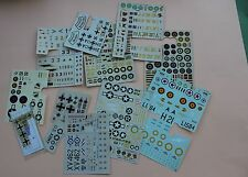 Lot d'ancien decalcomanie avion divers ESCI ABT  107 junkers messerschmitt P944