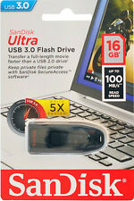 Sandisk 16GB Ultra USB 3.0 Flash Drive CZ48 16 GB  Pen Drive