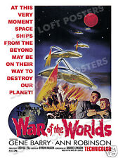THE WAR OF THE WORLDS  LOBBY CARD POSTER OS 1965-R GENE BARRY ANN ROBINSON