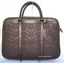 COACH PERRY LEATHER BRIEFCASE BUSINESS F72230 SHOULDER BAG MAHOGANY BROWN LAPTOP