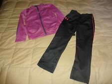 NEW Lot of 2: Girls UNDER ARMOUR Outift, Track Jacket + Pants, size 6 PINK