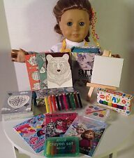 "Apron and Art Supplies for American Girl Doll 18"" Accessories SET"