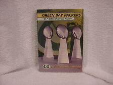 SUPER NICE 1997 Green Bay Packers Media Press Guide, Lombardi Trophies, LOOK!!