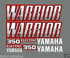 Warrior 350 Stock Style Full Graphic Kit Decals Stickers 87-04 Gray Atv Quad