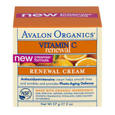 Avalon Organics Vitamin C Renewal Facial Cream 2 oz, New Creamier Formula