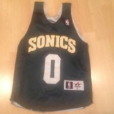 Vintage Kids Reversible Seattle Supersonics Throwback NBA Jersey