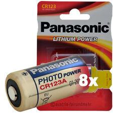"""8x CR123A CR123 Foto-Batterie Lithium von PANASONIC"
