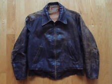 VTG 50s Sierra Sportswear Horsehide Front Quarter Leather Jacket Made in USA