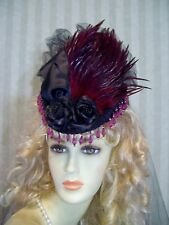 Victorian Mini Riding Hat Steampunk Hat BLack Civil War Hat 1800s style Hat