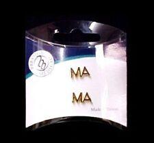 MA Lapel Pin Tac Set of 2 Medical Assistant Cap Tacs Gold Plated New